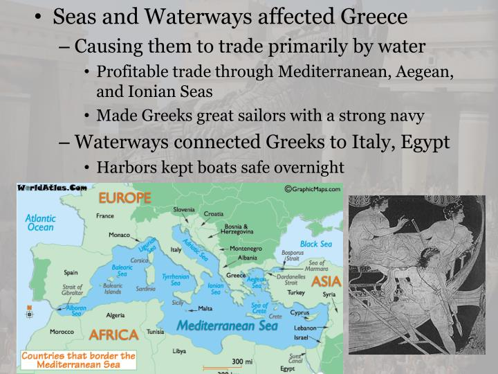 Seas and Waterways affected Greece