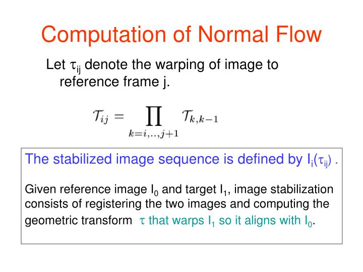 Computation of Normal Flow