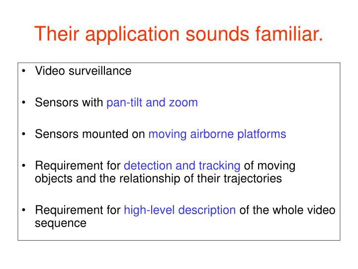 Their application sounds familiar.