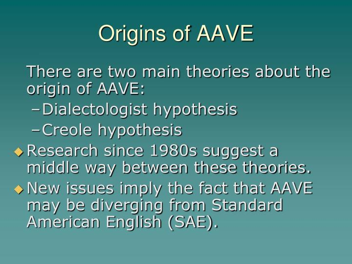 Origins of aave
