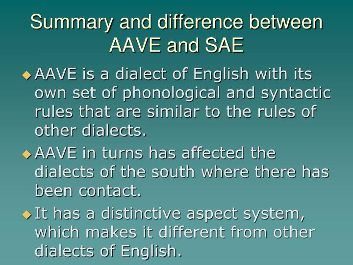 Summary and difference between