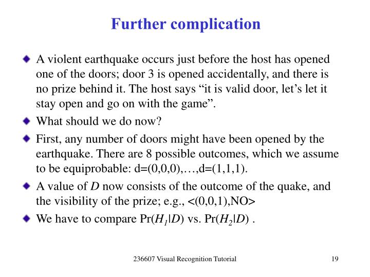 Further complication