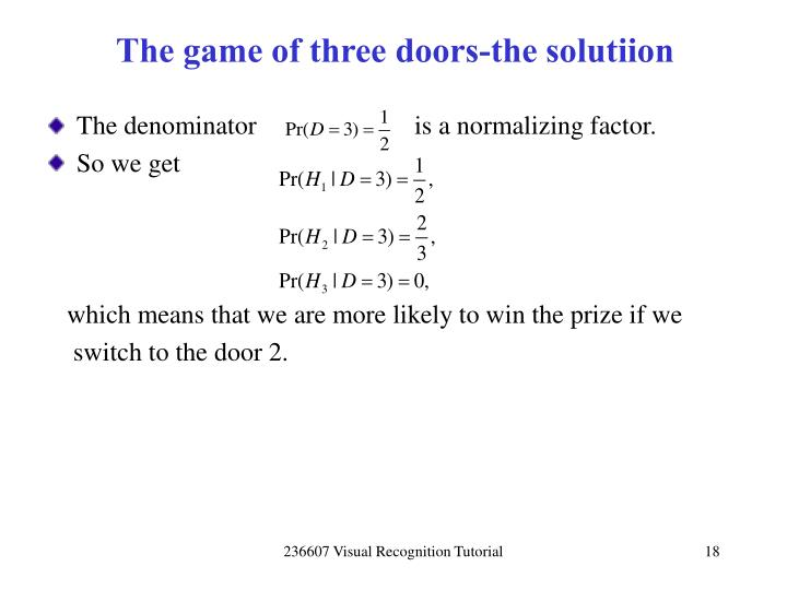 The game of three doors-the solutiion