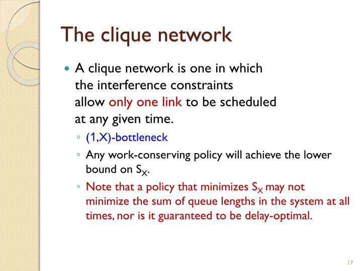 The clique network