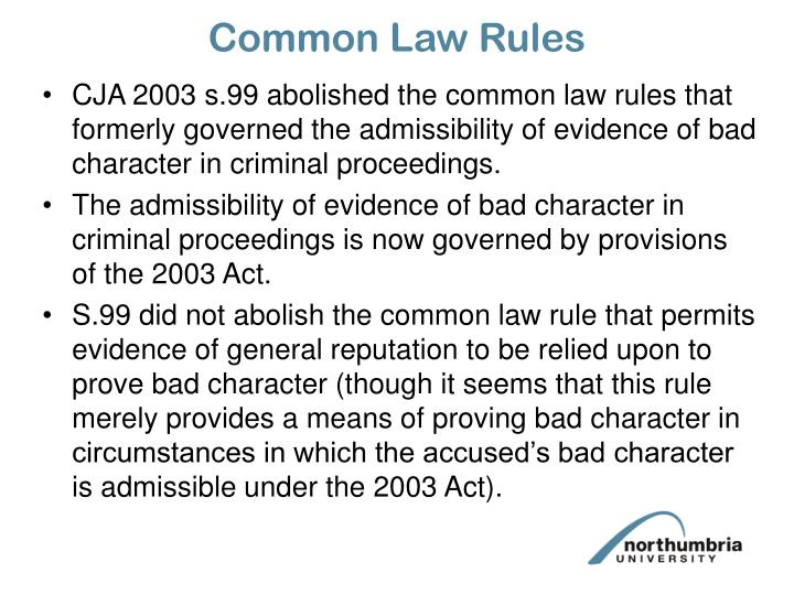 Common Law Rules