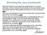 directing the jury continued