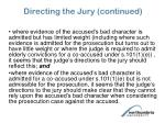 directing the jury continued1