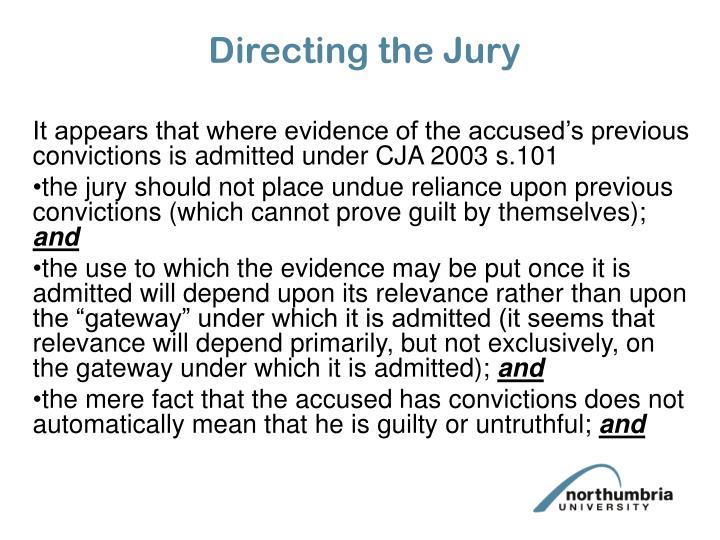 Directing the Jury