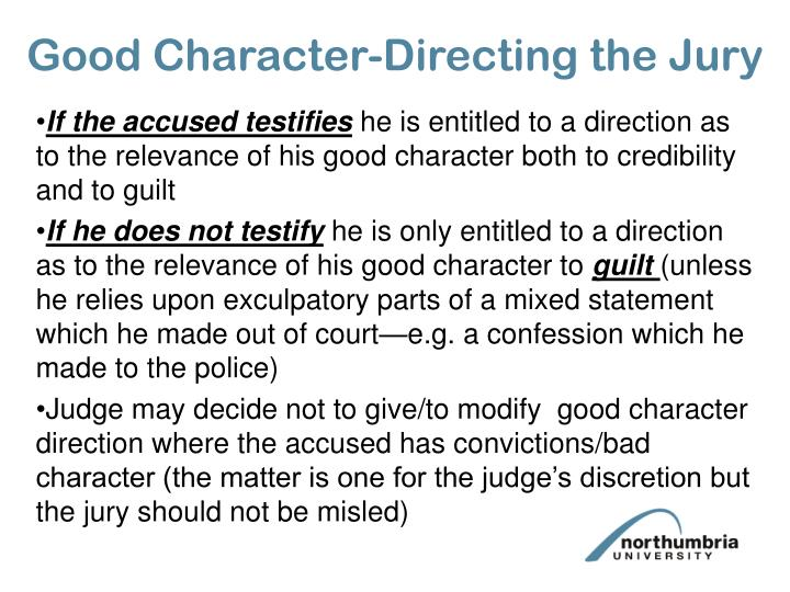 Good Character-Directing the Jury