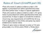 rules of court crimpr part 35