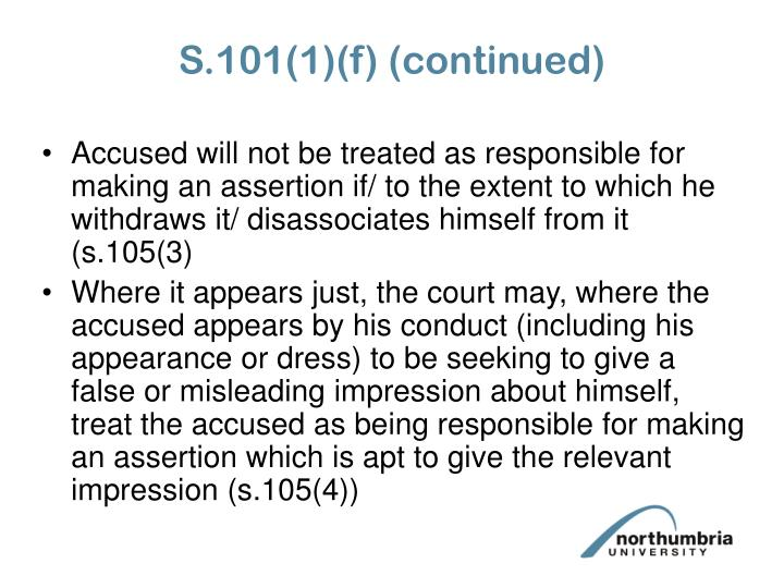 S.101(1)(f) (continued)