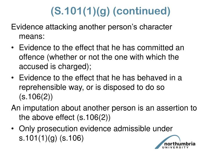 (S.101(1)(g) (continued)