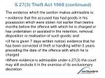 s 27 3 theft act 1968 continued