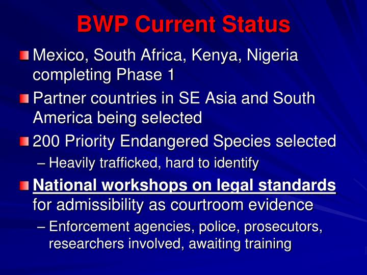 BWP Current Status