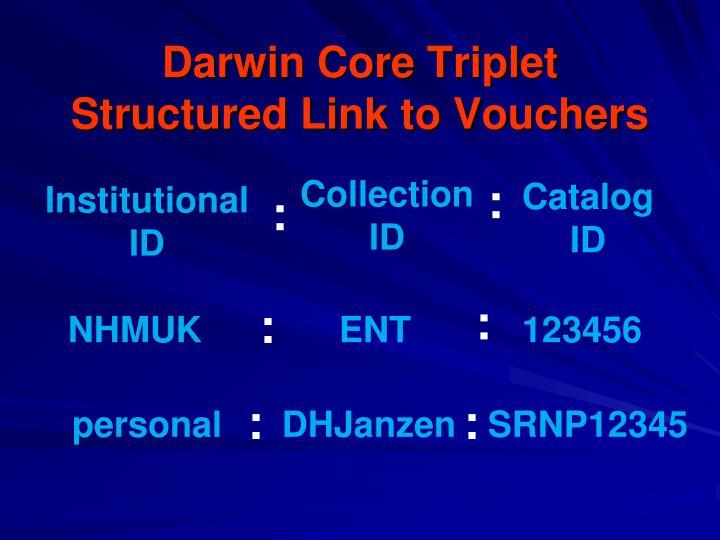 Darwin Core Triplet