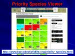 priority species viewer