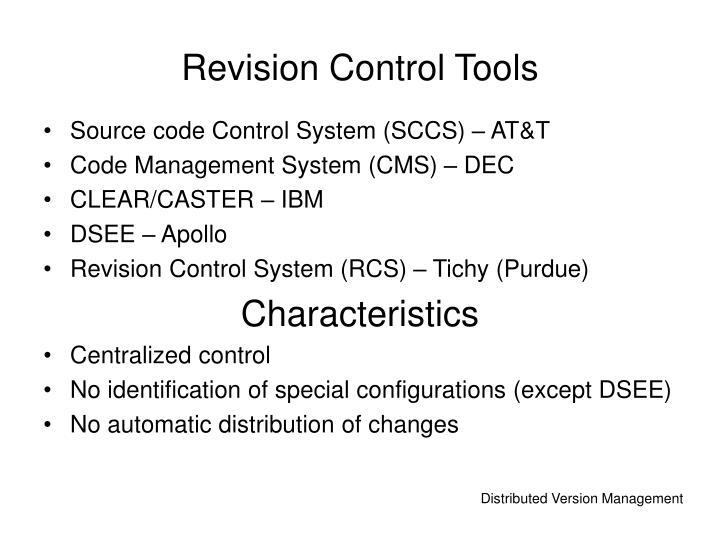 Revision Control Tools