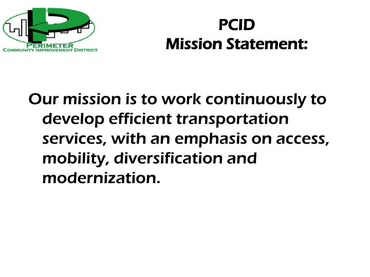Pcid mission statement