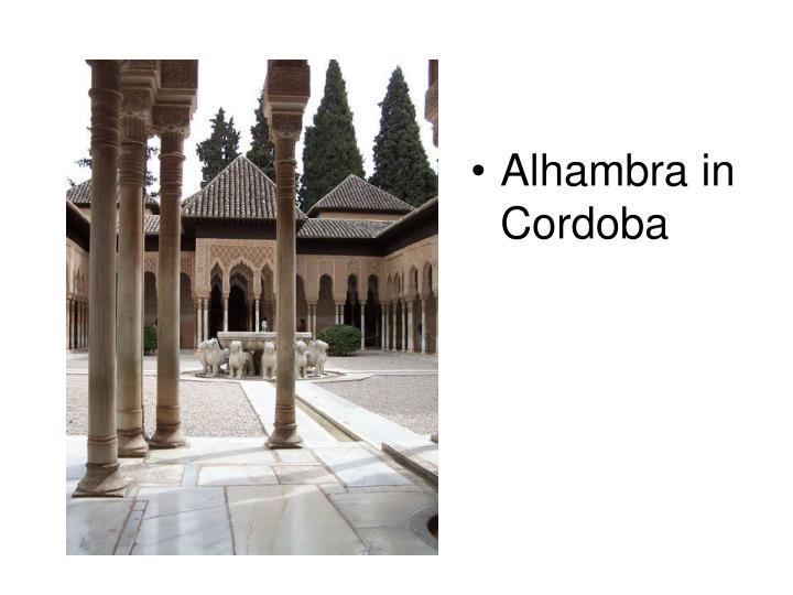 Alhambra in Cordoba
