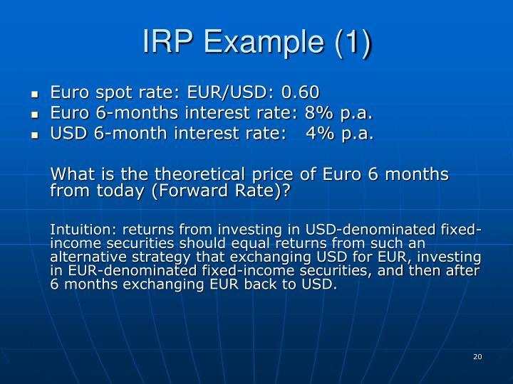 IRP Example (1)