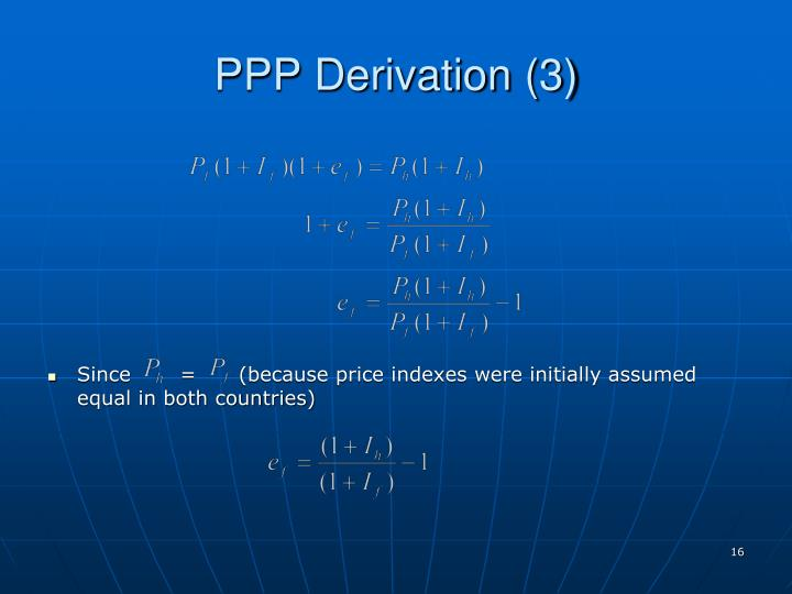 PPP Derivation (3)