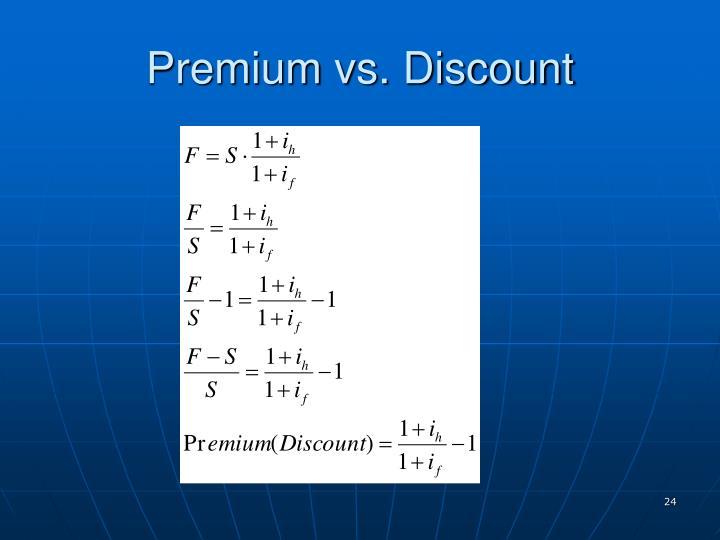 Premium vs. Discount