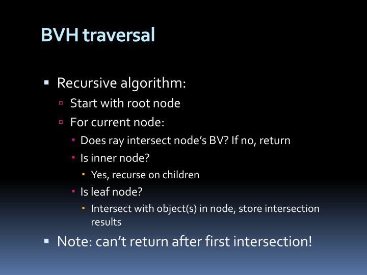 BVH traversal