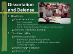 dissertation and defense