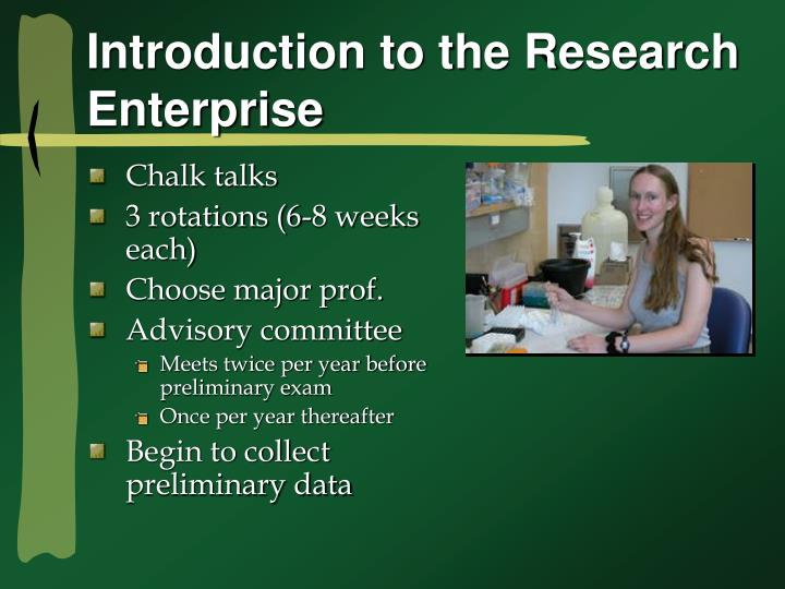 Introduction to the Research Enterprise
