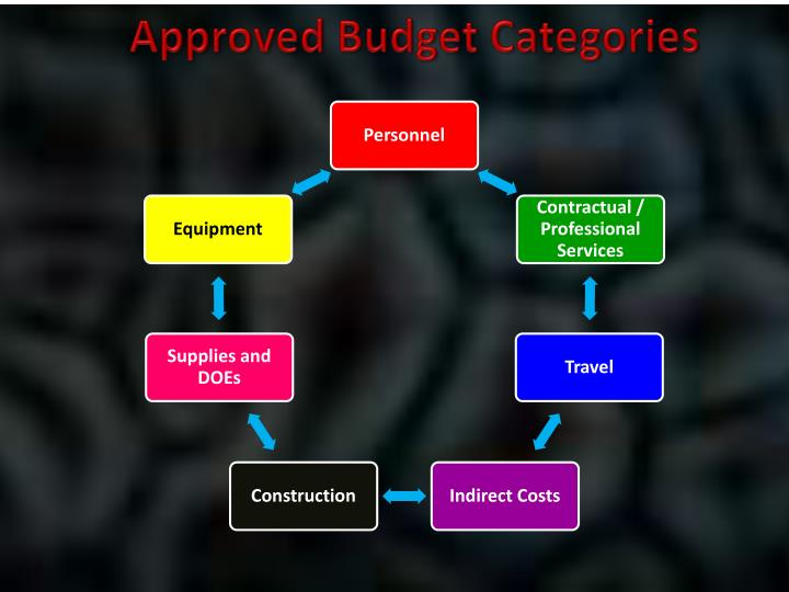Approved Budget Categories