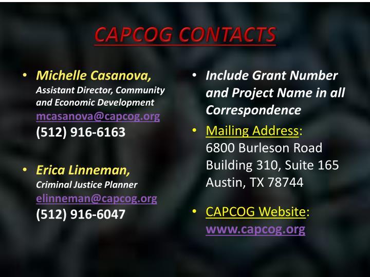 CAPCOG Contacts