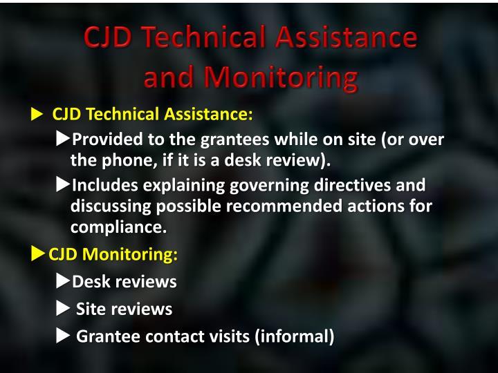CJD Technical Assistance