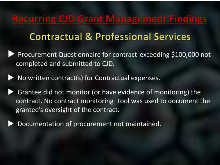 Contractual & Professional Services