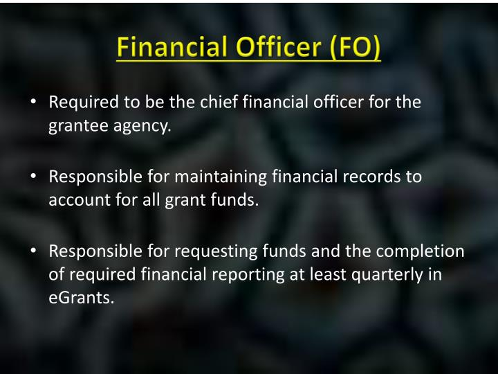 Financial Officer (FO)