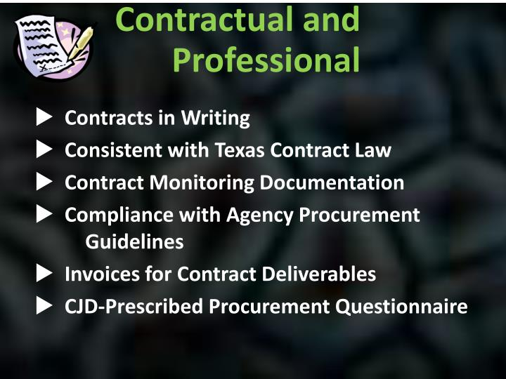 Contracts in Writing