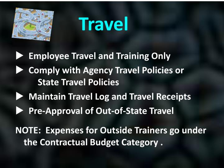 Employee Travel and Training Only