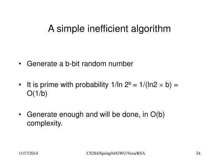 A simple inefficient algorithm