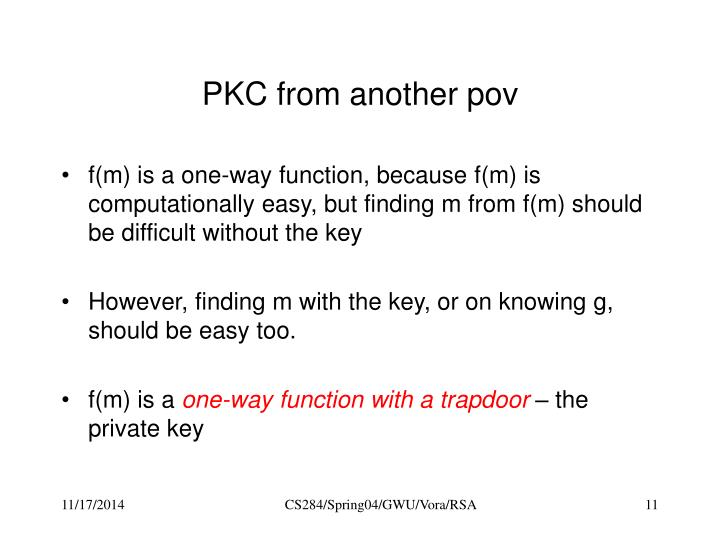 PKC from another pov