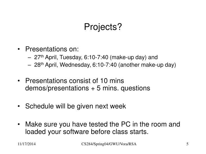 Projects?