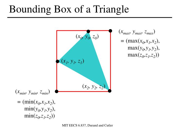 Bounding Box of a Triangle