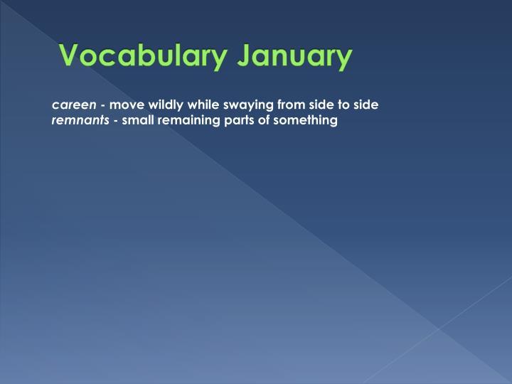 Vocabulary January