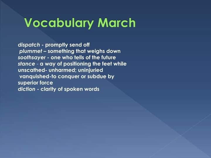 Vocabulary March