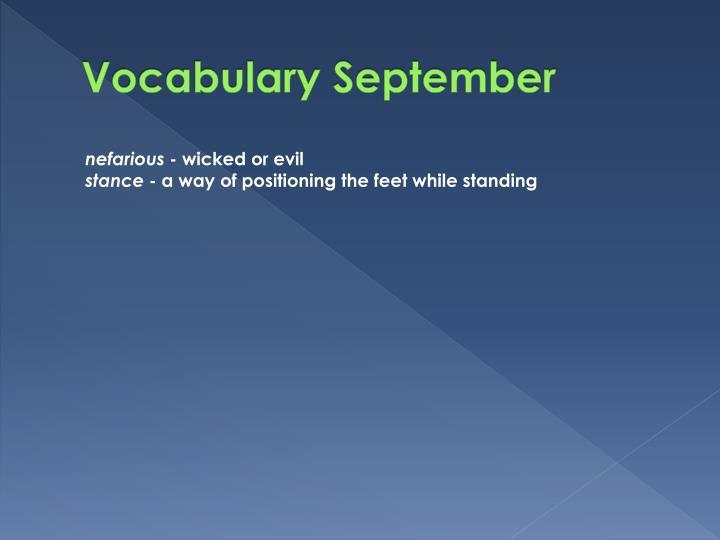 Vocabulary September