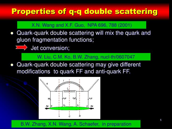 Properties of q-q double scattering