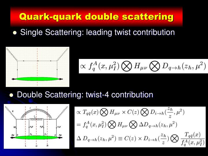 Quark-quark double scattering