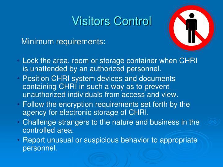 Visitors Control