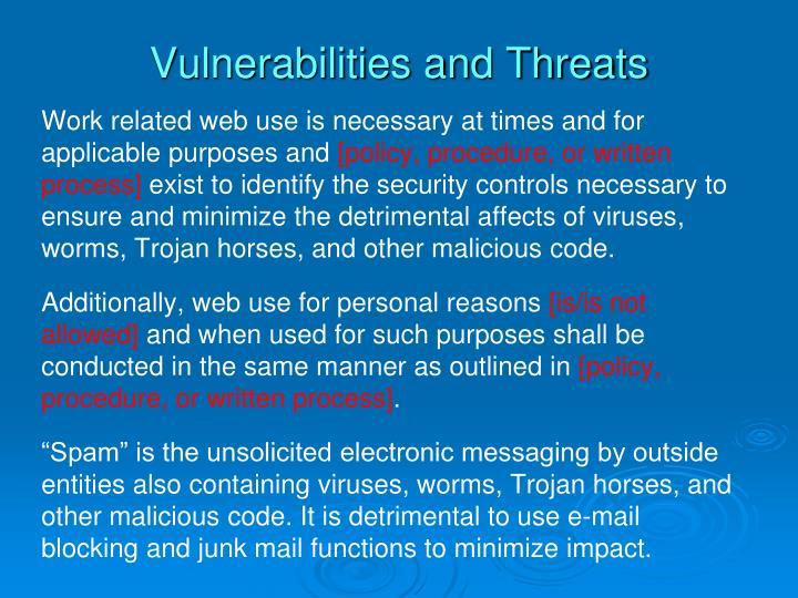Vulnerabilities and Threats