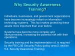 why security awareness training