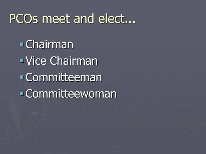 PCOs meet and elect...