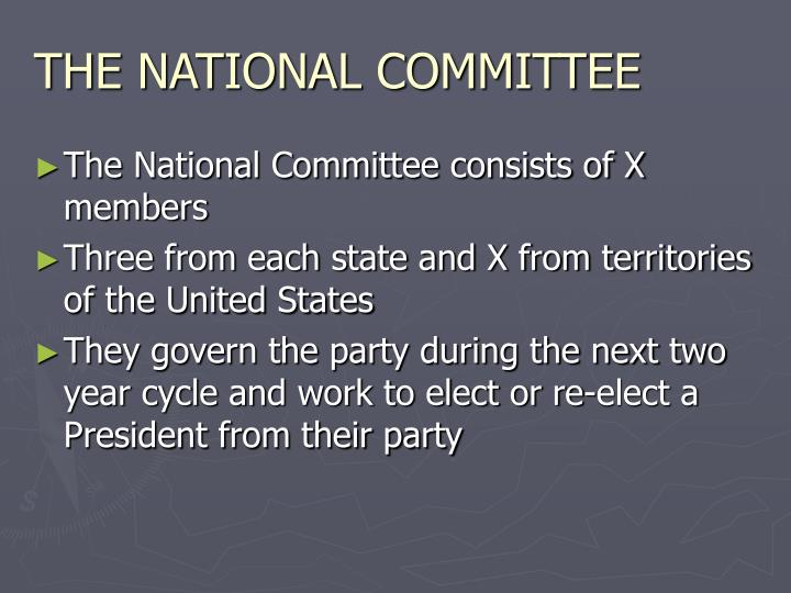 THE NATIONAL COMMITTEE